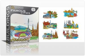 Famous Cities Vector Pack 2 Buildings [tag]