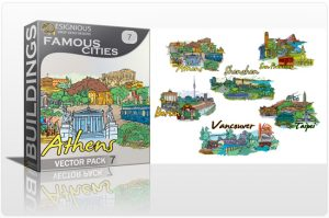 Famous Cities Vector Pack 7 Buildings [tag]
