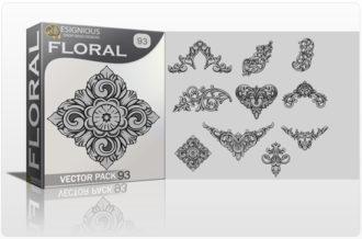 Floral Vector Pack 93 –  Engravings Floral floral