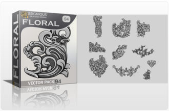 Floral Vector Pack 94 – Engravings Floral floral
