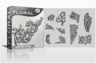 Floral Vector Pack 95 – Engravings Floral floral