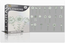 Floral Vector Pack 96 – Decorative Floral floral