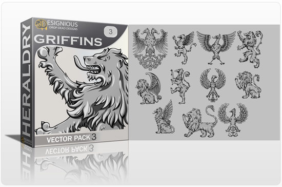 Griffins Vector Pack 3 products designious griffins vector pack 3 preview 1 1