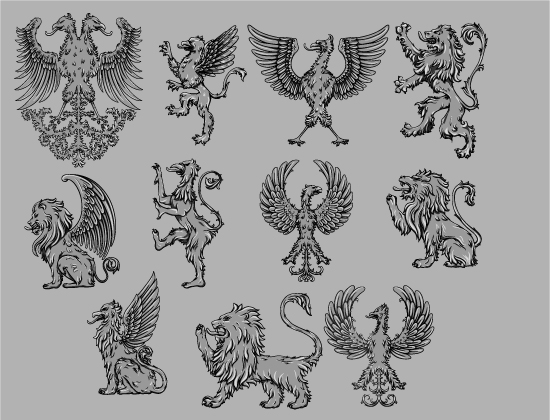 Griffins Vector Pack 3 products designious griffins vector pack 3 preview 2 2