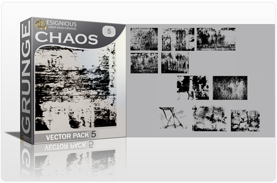 Grunge Chaos Vector Pack 5 Halftones & grunges [tag]
