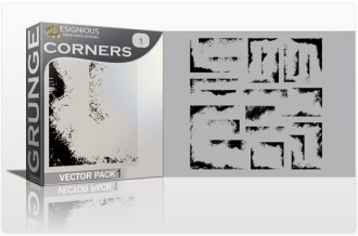 Grunge Corners Vector Pack 1 Halftones & grunges [tag]