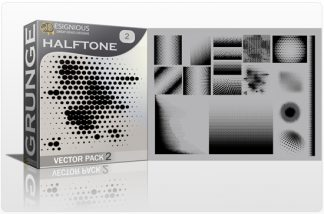 Halftone Vector Pack 2 Halftones & grunges [tag]