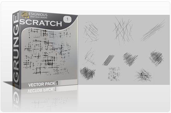 Scratches Vector Pack Halftones & grunges [tag]