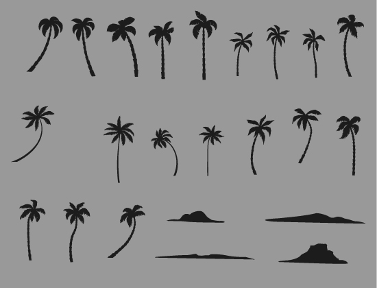 Palm Trees Vector Pack 3 Nature palm