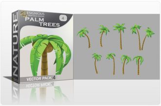 Palm Trees Vector Pack 4 Nature [tag]