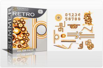 Retro Summer Elements Vector Pack 1 Summer [tag]