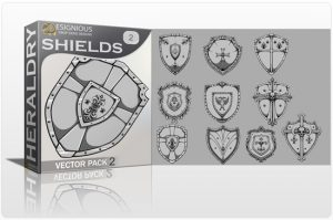 Shields Vector Pack 2 Heraldry shield