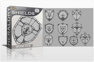 Shields Vector Pack 2 Heraldry shield
