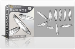 Surf Boards Vector Pack 1 Summer surfer