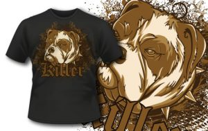 T-shirt design 337 – Bulldog T-shirt designs and templates vector