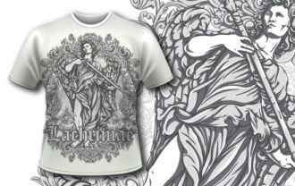 T-shirt design 342 – Archangel T-shirt Designs and Templates vector