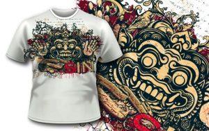 T-shirt design 344 – Bali Demon T-shirt designs and templates vector