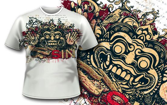 T-shirt design 344 - Bali Demon products designious t shirt design 344 1