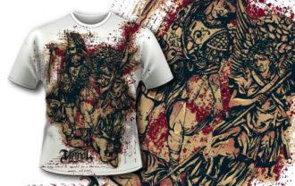 T-shirt design 348 – Archangels T-shirt Designs and Templates vector
