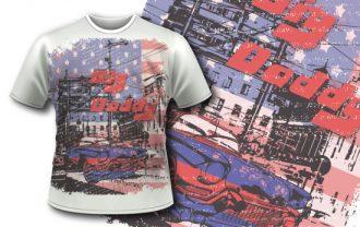 T-shirt design 349 – Vintage Car T-shirt Designs and Templates vector