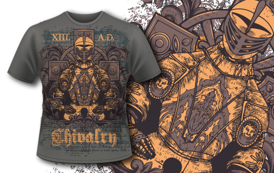T-shirt design 350 - Knight Armor products designious t shirt design 350 1