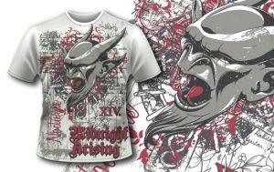 T-shirt design 351 – Gargoyle T-shirt designs and templates vector