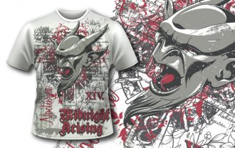 T-shirt design 351 – Gargoyle T-shirt Designs and Templates vector