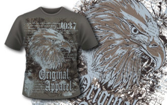 T-shirt design 356 – Eagle T-shirt Designs and Templates vector