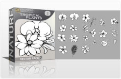 Tropical Plants Vector Pack 2 Nature tropical