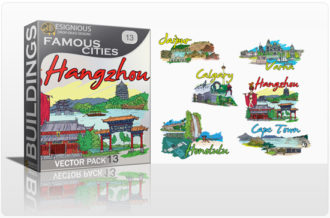 Famous Cities Vector Pack 13 Buildings [tag]