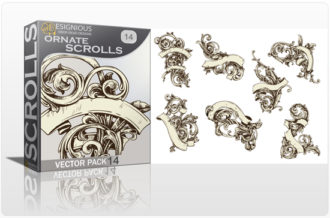 Scrolls Vector Pack 14 – Ornate Scrolls Scrolls [tag]