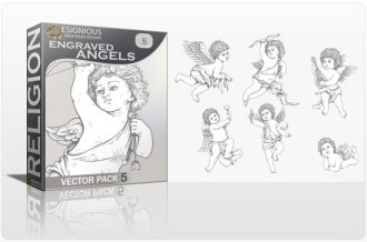 Angels Vector Pack 5 Religion angel