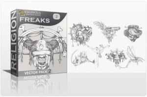 Freaks Vector Pack 2 Religion skull