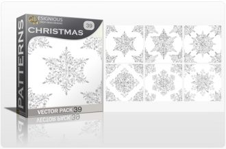 Seamless Patterns Vector Pack 39 – Snowflakes Vector Patterns [tag]