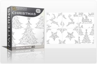 Seamless Patterns Vector Pack 40 – Christmas Vector Patterns [tag]