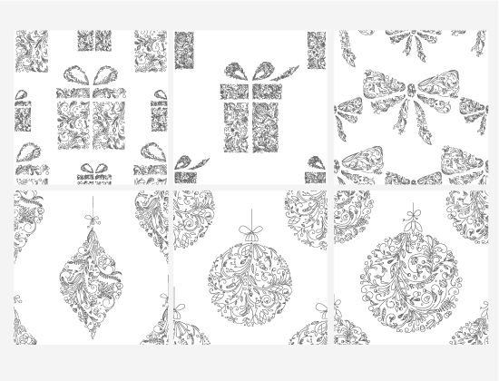 Seamless Patterns Vector Pack 41 – Christmas Vector Patterns [tag]