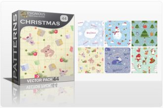 Seamless Patterns Vector Pack 44 – Christmas Vector Patterns [tag]