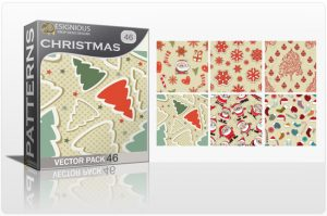 Seamless Patterns Vector Pack 46 – Christmas Freebies [tag]