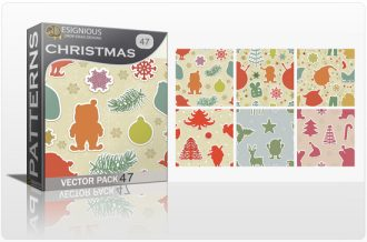 Seamless Patterns Vector Pack 47 – Christmas Vector Patterns [tag]