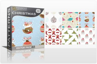 Seamless Patterns Vector Pack 48 – Christmas Vector Patterns [tag]