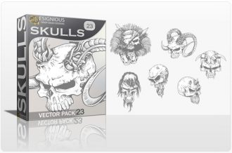 Skulls Vector Pack 23 Skulls bones