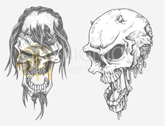 Skulls Vector Pack 23 products designious skulls vector pack 23 preview 5