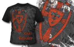 T-shirt design 387 – Heraldic Shield T-shirt designs and templates vector