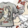 T-shirt design 387 – Heraldic Shield T-shirt Designs and Templates vector