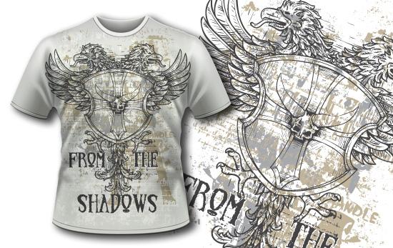 T-shirt design 389 - Vintage Crest products designious t shirt design 389