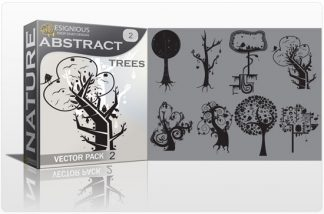 Abstract trees vector pack 2 Nature vector cutter plotter ready