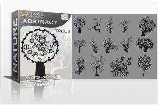 Abstract trees vector pack Nature vector cutter plotter ready