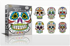 Sugar Skulls Vector Pack 2 Skulls halloween