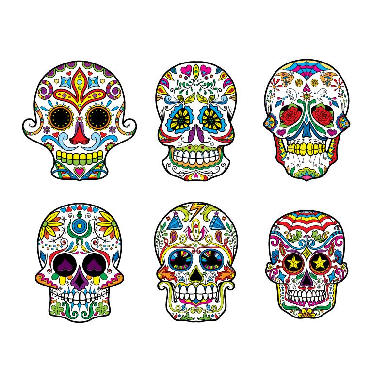 Sugar Skulls Vector Pack 2 Skulls halloween