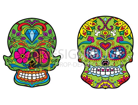 Sugar Skulls Vector Pack 4 products designious sugar skulls vector pack 4 preview 3